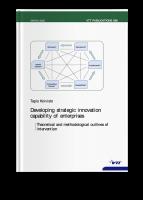 Developing Strategic Innocation Capability of Enterprises